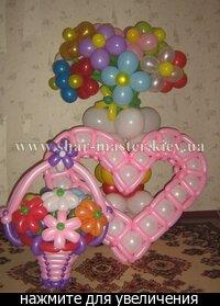 Продажа : Воздушные шарики, сердца на День Валентина в Киеве, подарок на...