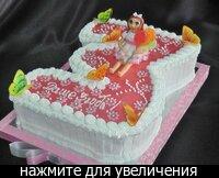 """Детский тортик Для Дашеньки! внутри  """"Молочная девочка, сливочно-творожный крем на основе творожного сыра..."""