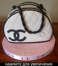 chanel bag birthday cake.