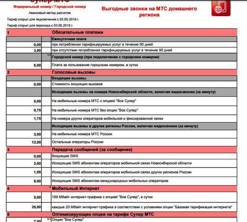 Цветов, тариф супер мтс иркутская область