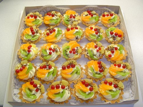 Пирожное корзиночка с фруктами и желе рецепт