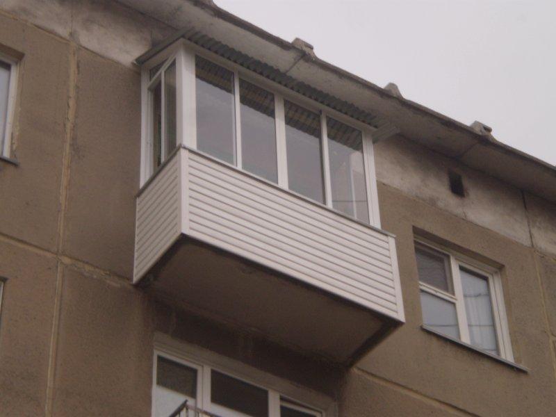 Балкон в пятиэтажке под ключ. - готовые балконы - каталог ст.