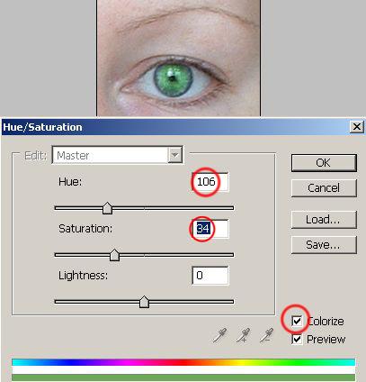 Как изменить цвет глаз в Фотошопе.