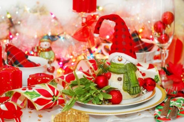 Украшение и сервировка новогоднего стола фото
