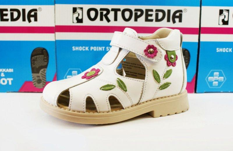 a91e01aed 675-06 ОРТОПЕДИА Сандалии, закр, бел. цветы, кожа, 1 липа производитель -  турция материал верха и подкладки - кожа хороший твердый задник и хороший  ...
