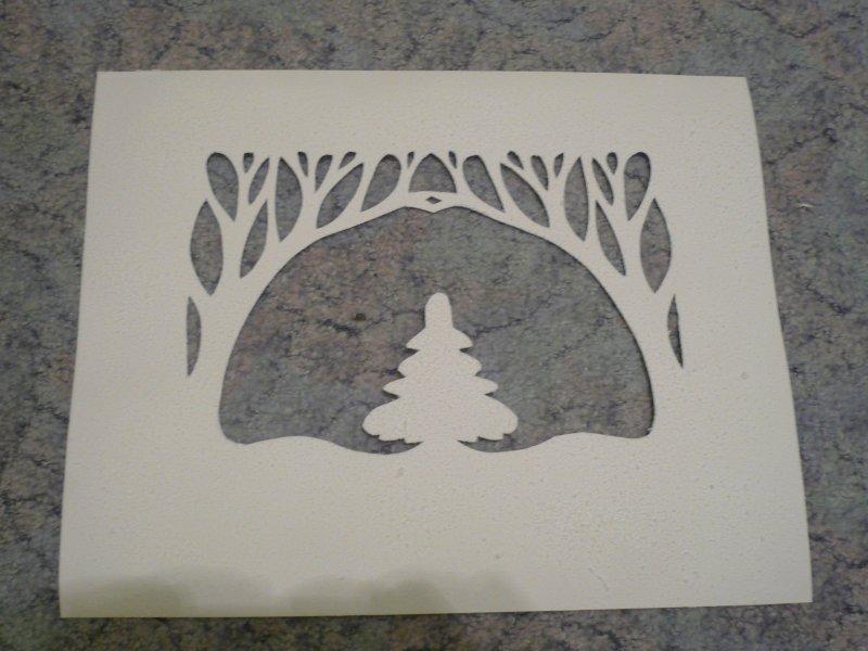 Объемная зимняя открытка из бумаги