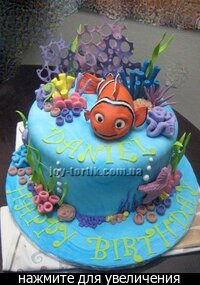This post was reblogged from.  Photo.  Permalink.  Nemo birthday cake.