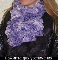 Вязание шарфа крупной вязкой.