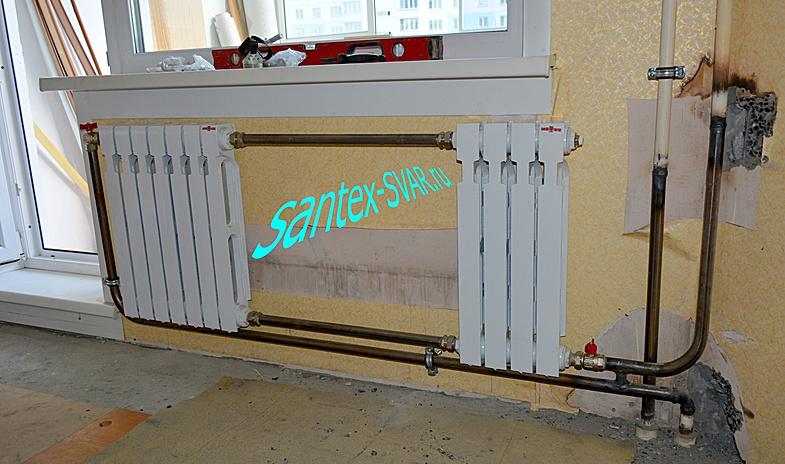 Алюминиевый радиатор на балконе фото..
