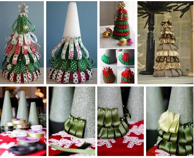 Декоративные елки на новый год своими руками
