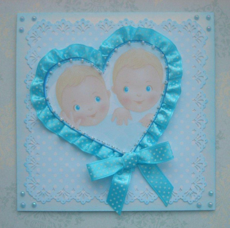 Поздравительные открытки рождением двойняшек