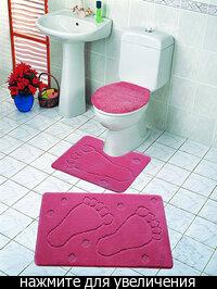 """Набор ковриков в ванную комнату  """"Миллениум """" 2-х предм. разм.  60х100см."""