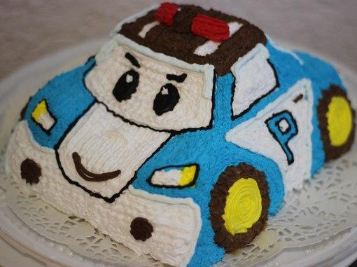 Торт поли робокар без мастики