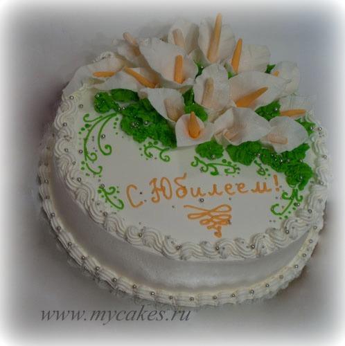 Торт на День рождения украшение.  Рецепты домашних тортов - Кулинарные рецепты от хрумки.