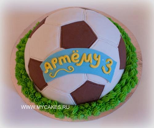 Безупречно торт футбольный мяч торт
