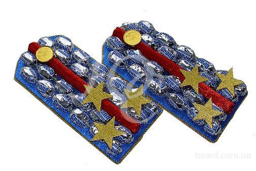 Букет из конфет на 23 февраля