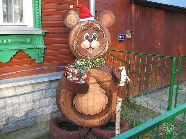 Фото поделки из шины заяц и медведь