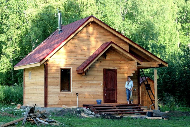 Как построить дом баню в одном 113