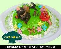 """В первом варианте мы сделаем медведя  """"объемным """", т.е фигура мишки - это торт, а Машенька"""
