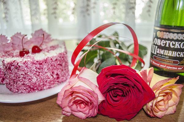 с днем рождения картинка с цветами или тортом если приора заниженная