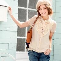 летняя блузка из шифона с коротким рукавом выкройка.