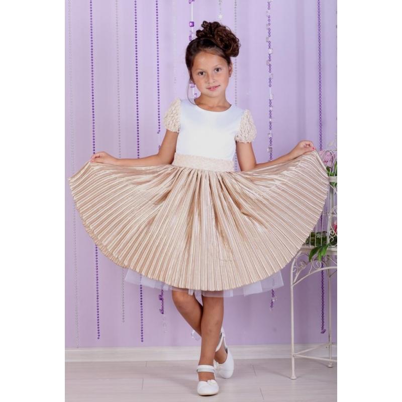 Плиссированное платье для девочки