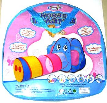 Размер: 166х73х83 Один из самых удачных вариантов детских палаток.  Красочная расцветка и очаровательная мордочка...