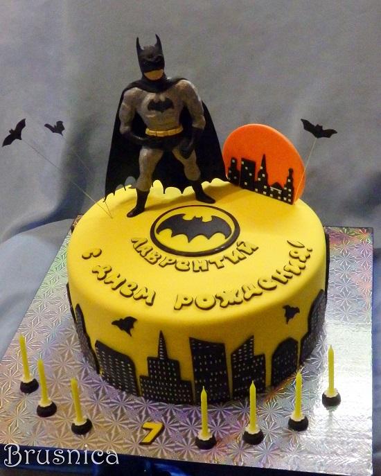 Торт бэтмен фото без мастики