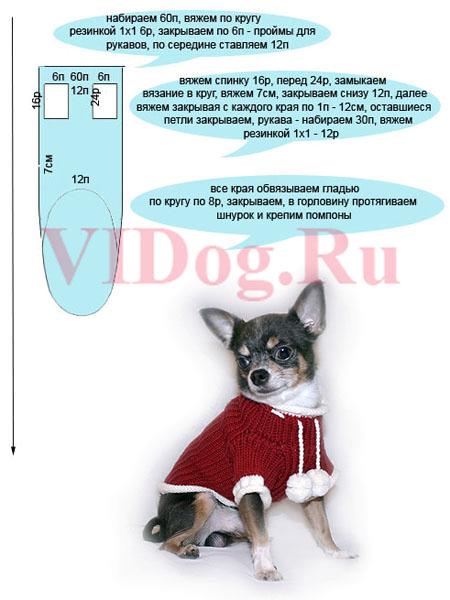 вязаная одежда для маленьких собачек сибмама о семье