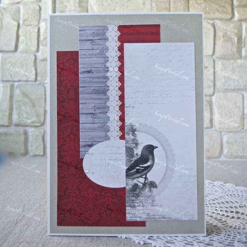 Прорезями ушками, рубиновая свадьба открытка скрапбукинг