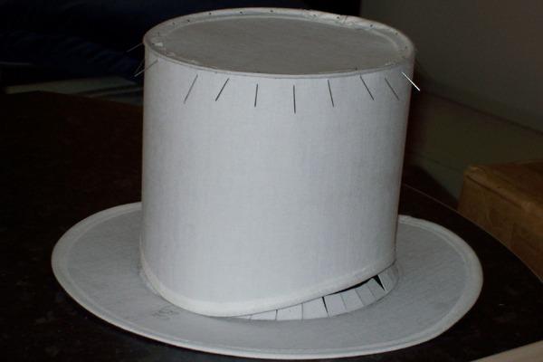 Шляпа-цилиндр своими руками из бумаги