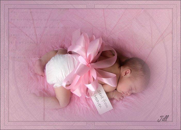 Красивых кошечек, открытка месяц новорожденной