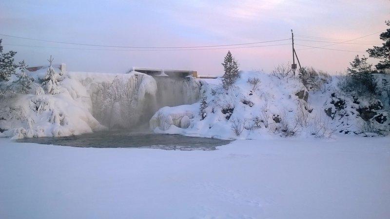подсветка карпысак водопад фото зимой будет располагаться