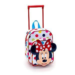 У нас новый чемоданчик с Диснея (он на колесиках, плюс сзади ремешки...