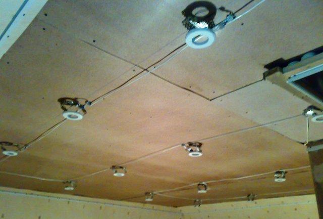разводка для точечных светильников под потолком того чтобы термобелье