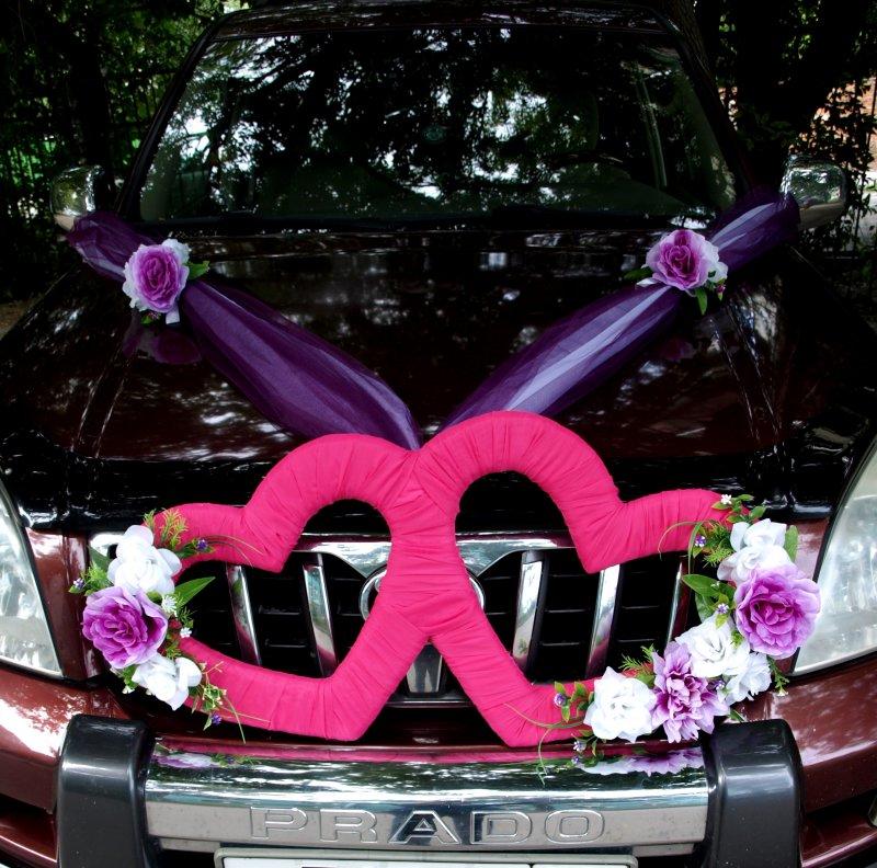Сердечко своими руками для свадебного машины 37