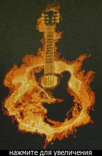 Огненная гитара схема для вышивки 852