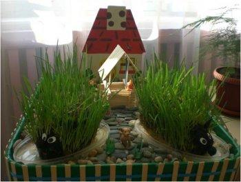 """В нашем детском саду проходил конкурс среди всех возрастных групп  """"Огород на подоконнике """".  Это сделано для развития..."""