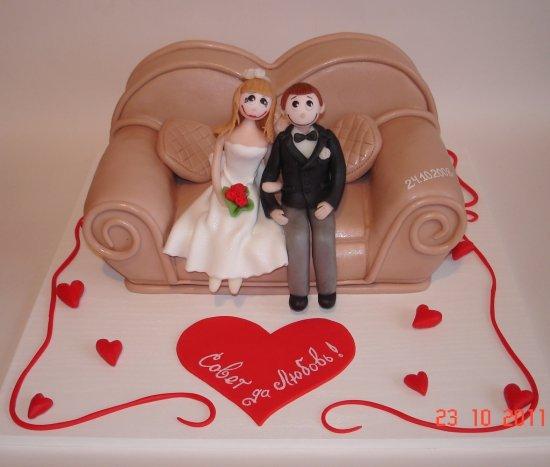 """медовый торт с грушами, молотыми грецкими орехами и кремом  """"пломбир """".  КОЖАНЫЙ ДИВАНЧИК на годовщину свадьбы."""