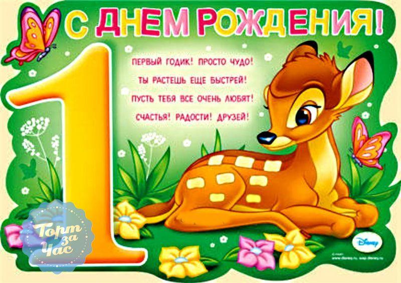Поздравление с днём рождения малышу 1 годик