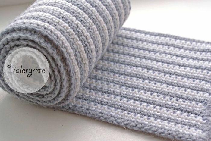 Нравится этот шарф, но опыта в вязании практически нет.